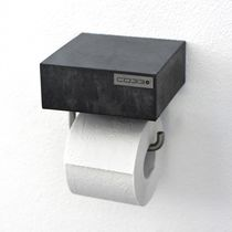 Wall-mounted toilet paper dispenser / steel / concrete