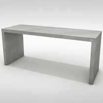 Contemporary dining table / concrete / rectangular / garden