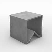 Contemporary stool / concrete / modular