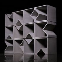 Modular shelf / contemporary / concrete