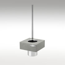 Stainless steel toilet brush holder / concrete / wall-mounted