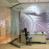 Fixed partition / glazed / professional / frameless