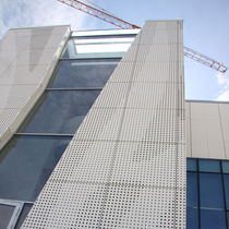 Stone ventilated facade / ceramic / aluminum / sheet