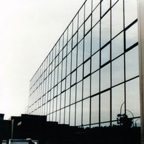 Stick system curtain wall / aluminum / glass