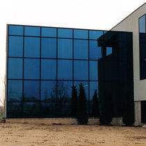 Spandrel curtain wall / aluminum / glass