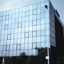Stick system curtain wall / aluminum and glass / acoustic / with integrated insulation