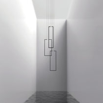 Minimalist design chandelier / lacquered metal / LED