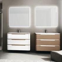 Wall-hung washbasin cabinet / wooden / contemporary