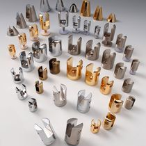 Brass glass clamp / for railing / for facades