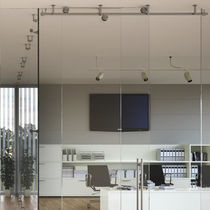 Sliding fastening system / steel / for insulation panels / for partition walls