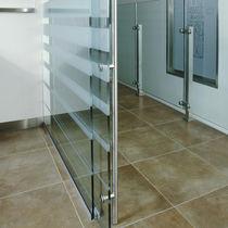 Glass door pull handle / metal / contemporary