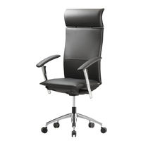 Contemporary executive armchairs / adjustable-height / with armrests / reclining