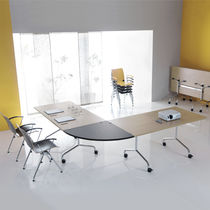 Conference table / original design / rectangular / round