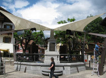 Fabric shade structure / for public spaces / for playgrounds / for parking lots