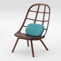 Contemporary fireside chair / wooden