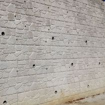 Retaining wall form liner / stone look / for concrete