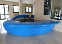 Semicircular reception desk / expanded polystyrene