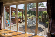 Swing French door / aluminum / thermally-insulated