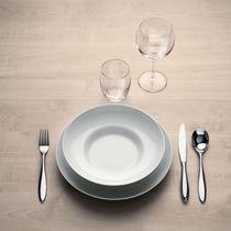 Dessert plate / round / porcelain / white