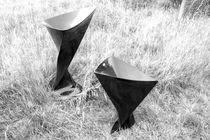 Fabric garden pot / resin