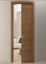 Interior door / pocket / wooden / curved