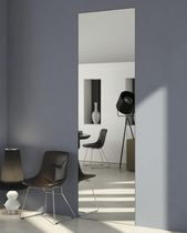 Interior door / pocket / wooden / with mirror