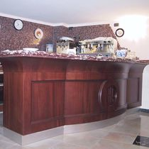 Bar counter / wooden / upright