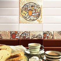 Kitchen tile / wall / ceramic / patterned