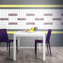 Wall tile / ceramic / multi-color / high-gloss