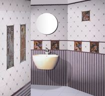 Bathroom tile / wall / ceramic / scenic pattern