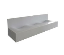 Multiple washbasin / countertop / rectangular / Corian®