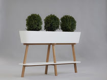 Oak planter / rectangular / contemporary / for public buildings