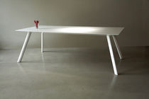 Contemporary table / Corian® / for public buildings