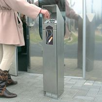 Pedestal ashtray / stainless steel / outdoor / for public areas