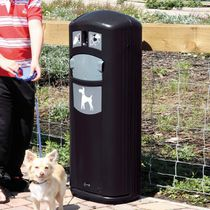Dog excrement bags dispenser with trash can
