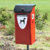 Public trash can / steel / for dog excrement / contemporary