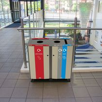 Public trash can / steel / recycling