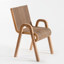 Original design chair / with armrests / eco-friendly / recyclable