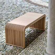 Original design bench / wooden / cardboard / double-sided