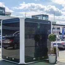 Commercial kiosk / information / steel / solar-powered