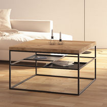 Contemporary coffee table / oak / lacquered wood / MDF