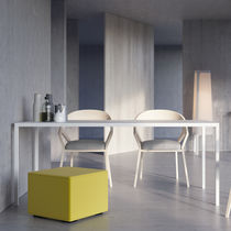 Contemporary table / powder-coated steel / rectangular