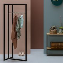 Contemporary clothes rack / stainless steel