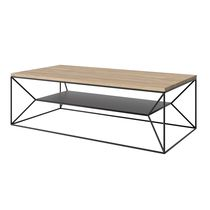 Contemporary coffee table / wooden / powder-coated steel / rectangular