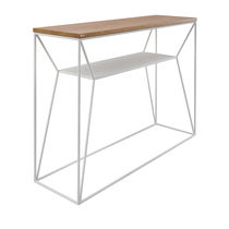 Contemporary sideboard table / oak / steel / rectangular