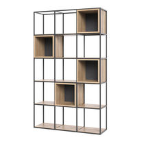 Contemporary shelf / oak / steel