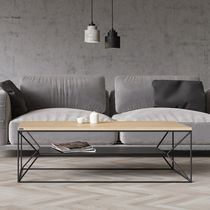 Scandinavian style coffee table / oak / lacquered wood / MDF