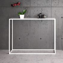 Contemporary sideboard table / oak / powder-coated steel / rectangular