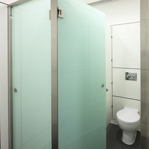 Public sanitary facility toilet cubicle / stainless steel