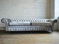 Chesterfield sofa / velvet / 4-seater / 5-seater